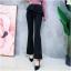 เสื้อผ้าเกาหลีพร้อมส่ง กางเกงขานบานสีดำ (Black) ผ้าโพลีเนื้อทิ้งตัวดูแพง thumbnail 5