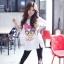 เสื้อผ้าเกาหลี พร้อมส่งเสื้อตัวยาว พิมพ์ลาย Daisy Duck thumbnail 5