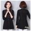 เสื้อผ้าเกาหลีพร้อมส่ง เสื้อตัวยาว คอกลม แขนยาว เนื้อผ้า cotton 100% thumbnail 3