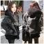 Karina Denim Jacket Shearling Hood Coat Set thumbnail 2