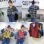 เสื้อผ้าเกาหลีพร้อมส่ง เสื้อแขนยาว ดีเทลช่วงตัวลายสก๊อต thumbnail 2