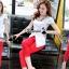 เสื้อผ้าเกาหลี พร้อมส่งCrimson red pants set thumbnail 8