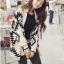 เสื้อคลุมแฟชันไหมพรมเกาหลี ลายกราฟฟิกสไตล์โบฮีเมียน thumbnail 1