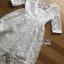 ชุดเดรสเกาหลีพร้อมส่ง เดรสผ้าลูกไม้สีขาวสไตล์เจ้าหญิงสุดหวาน thumbnail 9