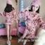 เสื้อผ้าแฟชั่นเกาหลีพร้อม่สง เสื้อปักมุกคู่กับกระโปรง พิมพ์ลายดอก thumbnail 2