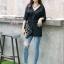 เสื้อผ้าแฟชั่นเกาหลีพร้อมส่ง เสื้อเชิ๊ตดีไซส์ติดกระดุม thumbnail 4