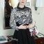 ชุดเดรสเกาหลีพร้อมส่ง All New Self P Floral LAce Luxury Dress thumbnail 1