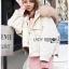 Emma Winter Big Fur-Hood White Denim Jacket thumbnail 2