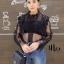 เสื้อผ้าเกาหลีพร้อมส่ง เสื้อลูกไม้ซีทรูแขนยาว thumbnail 9