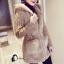 เสื้อผ้าเกาหลีพร้อมส่ง Winter Grey Bunny Cuite Hoody thumbnail 1