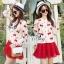 Blossom Cherry Strips Knit Cardigan thumbnail 1