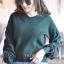 เสื้อผ้าเกาหลีพร้อมส่ง เสื้อไหมพรม Korea Design งานผ้าไหมพรมอย่างดี thumbnail 14