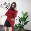 เสื้อผ้าเกาหลีพร้อมส่ง เสื้อไหมพรมแขนยาวทรงคอเต่า ดีไซน์เก๋ๆ thumbnail 3