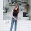 เสื้อผ้าเกาหลีพร้อมส่ง กางเกงยีนส์เข้าแล้วค่า ทรงบอยแต่ไม่บอย thumbnail 5