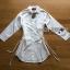 เสื้อผ้าเกาหลีพร้อมส่ง เชิ้ตเดรสผ้าคอตตอนสีขาวตกแต่งเชือกผูกด้านข้าง thumbnail 14