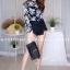 เสื้อผ้าเกาหลีพร้อมส่ง งานเซตเสื้อซีทรูสกีนลายดอกคมชัด thumbnail 5