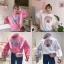 เสื้อผ้าเกาหลีพร้อมส่ง เสื้อกันหนาวแขนยาว ผ้าเนื้อนุ่มสกรีนลาย thumbnail 4