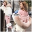 Emma Winter Big Fur-Hood White Denim Jacket thumbnail 1