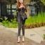 กางเกงยีนส์เอวสูง สีดำฟอกสีสวยมากๆ thumbnail 3