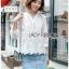 เสื้อผ้าแฟชั่นเกาหลีพร้อมส่ง เสื้อคอตตอนฉลุลายสไตล์วินเทจ thumbnail 1