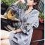 เสื้อผ้าเกาหลีพร้อมส่ง มินิเชิ้ตเดรสผ้าลายทาง thumbnail 5