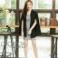 เสื้อผ้าแฟชั่นเกาหลีพร้อมส่ง เสื้อคลุมเบเซอร์สีดำ รุ่นนี้ทรงปล่อยๆ thumbnail 8