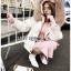 Emma Winter Big Fur-Hood White Denim Jacket thumbnail 5