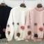 เสื้อผ้าเกาหลีพร้อมส่ง เสื้อผ้านุ่มติดดอกไม้ 3D thumbnail 6