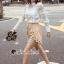 เสื้อผ้าเกาหลีพร้อมส่ง T-Shirt Lace Sweater Circle Pant Set thumbnail 2