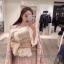 เสื้อผ้าเกาหลีพร้อมส่ง โอเวอร์โค๊ตลายชิโนริ บุซับในฟองน้ำและผ้าต่วน thumbnail 2
