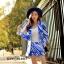 เสื้อผ้าเกาหลีพร้อมส่ง เซทเสื้อสูทแขนยาวคอปก thumbnail 1