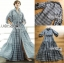 เสื้อผ้าเกาหลีพร้อมส่ง เชิ้ตเดรสผ้าคอตตอปักลายแพทเทิร์นดอกไม้ thumbnail 10