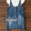เสื้อผ้าเกาหลีพร้อมส่ง Star pendant T-shirt Splitty Skirt Bibby Set thumbnail 3