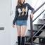 เสื้อผ้าเกาหลีพร้อมส่ง เสื้อจั๊มเปอร์ไหมพรมถักผสมขนกระต่าย thumbnail 2