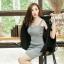 เสื้อผ้าแฟชั่นเกาหลีพร้อมส่ง เสื้อคลุมเบเซอร์สีดำ รุ่นนี้ทรงปล่อยๆ thumbnail 4