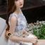ชุดเดรสเกาหลีพร้อมส่ง Sweet Lace Bule Suquin Dress thumbnail 5