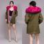 เสื้อผ้าเกาหลีพร้อมส่ง เสื้อกันหนาวตัวยาว บุขนด้านในทั้งตัว มีฮู้ด thumbnail 4