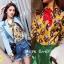เสื้อผ้าเกาหลีพร้อมส่ง เชิตผ้าซิลซาติน แบรนด์ Gucci thumbnail 3