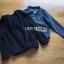 เสื้อผ้าเกาหลีพร้อมส่ง เซ็ตเสื้อแจ็กเก็ตเดนิมทับเสื้อโค้ทตกแต่งฮู้ดขนแกะสีน้ำเงินเข้ม thumbnail 12