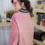 เสื้อผ้าเกาหลีพร้อมส่ง เสื้อกันหนาวตัวยาวทรงคอปีนแขนพอง thumbnail 8