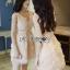 เสื้อผ้าเกาหลีพร้อมส่ง ค็อกเทลเดรสผ้าออร์แกนซ่าปักลายดอกไม้แบบ3D thumbnail 9