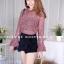เสื้อผ้าเกาหลีพร้อมส่ง เสื้อลูกไม้งานสวยทรงเป๊ะดีไซน์เก๋ได้ลุคสาวหวานสุดๆค่า thumbnail 10