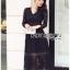 ชุดเดรสเกาหลี พร้อมส่งเดรสผ้าลูกไม้สีดำสไตล์คลาสสิก thumbnail 12