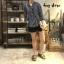 เสื้อผ้าเกาหลีพร้อมส่ง Stripe V Top เสื้อคอวี thumbnail 4