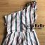 เสื้อผ้าเกาหลีพร้อมส่ง จั้มสูทกางเกงปาดไหล่หนึ่งข้างติดดอกไม้ช่วงไหล่ thumbnail 5