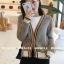 เสื้อผ้าเกาหลีพร้อมส่ง เสื้อคลุมไหมพรมแขนยาวลายสวยสก็อตเล็ก thumbnail 3