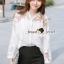 เสื้อผ้าเกาหลีพร้อมส่ง Korea Pleaty Shirt Denim Sleeve thumbnail 1
