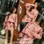 เสื้อผ้าแฟชั่นเกาหลีพร้อม่สง เสื้อปักมุกคู่กับกระโปรง พิมพ์ลายดอก thumbnail 3