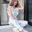 เสื้อผ้าเกาหลีพร้อมส่ง Jumpsuit สวยลงตัวในชุดเดียว thumbnail 6