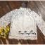 เสื้อผ้าเกาหลีพร้อมส่ง เสื้อลูกไม้คอกลมตั้งสูงสไตล์วินเทจ thumbnail 13
